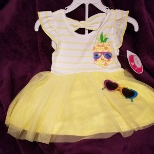 Nannette TODDLERS Pineapple Dress with Shorts Sz 5